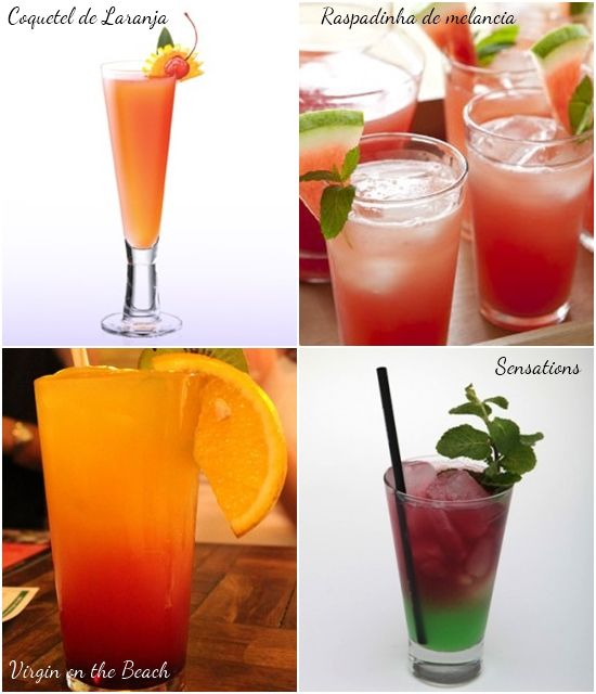 dicas de bebidas sem álcool