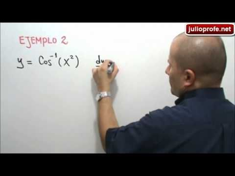 Derivadas de las funciones trigonométricas inversas: Julio Rios expone las fórmulas para derivar funciones trigonométricas inversas y seis (6) ejemplos de las mismas