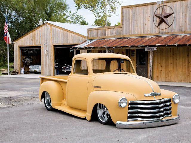 1955 Chevy Pickup. Matte on chrome