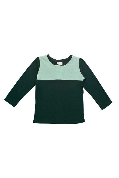 Long Sleeve Contrast Tee by ReCreate   Organic Designer Ethical