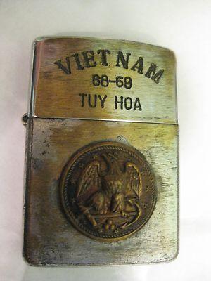 vietnam zippo lighters engravings   Vietnam War Original Vintage ZIPPO LIGHTER 68-69 Tuy Hoa – American ...
