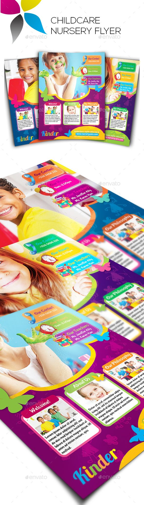 images about daycare documents newsletter childcare nursery flyer