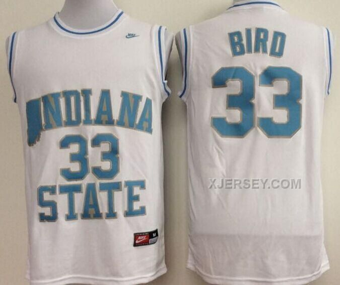 73dcdfa5898d ... hardwood legends jersey new indiana state sycamores larry bird college  basketball jerseys where can i buy bird indiana state ncaa jersey 33 blue  college ...