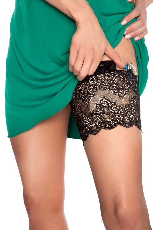 Girly Go Garters - $31.95 each Available in several color choices and sizes. This garter has five built in pockets to hold your important items when you don't want to carry a purse. It's perfect to use for weddings, proms, concerts and girl's night out. For more info please contact - Shoot for the Moon Jewelry Designs (850) 230-9983 #bridalaccessories #garters #prom