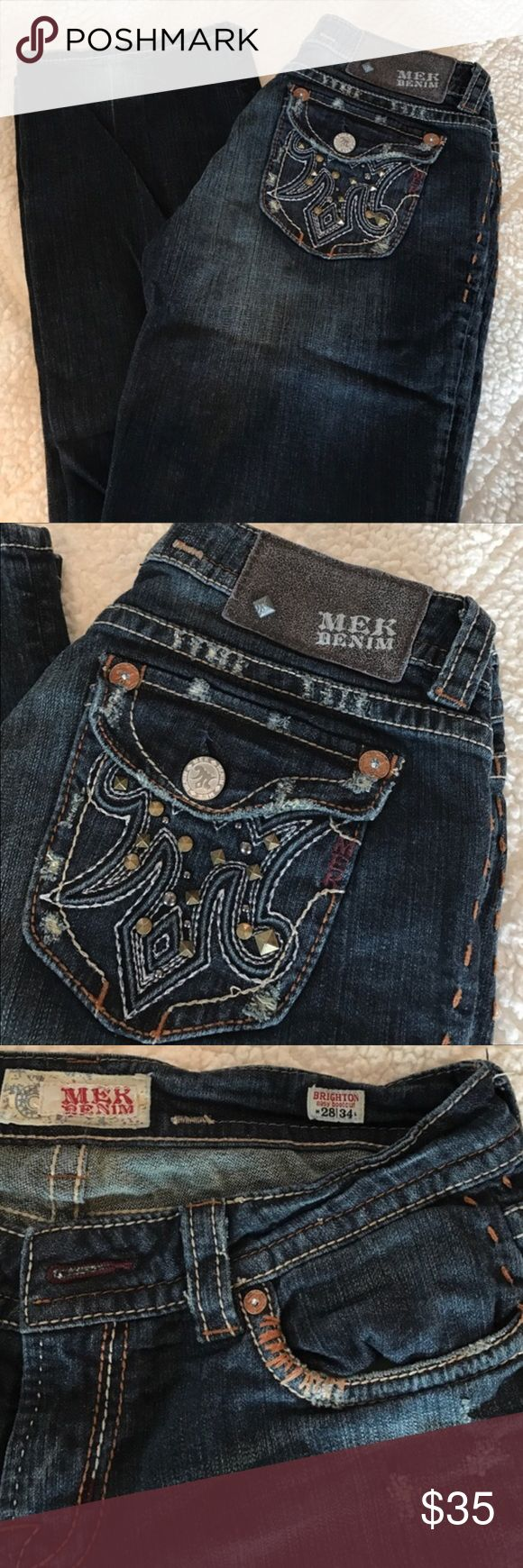 MEK 👖 Jeans Very cute dark denim jeans. Bought from another Posher but were too small for me. MEK Jeans