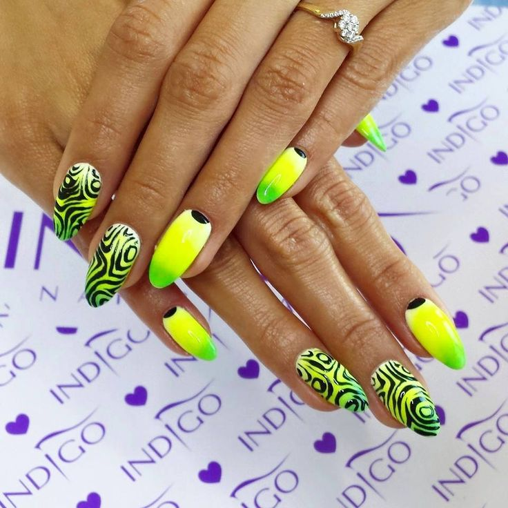 136 best Neon nails images on Pinterest | Nail art, Neon nails and ...