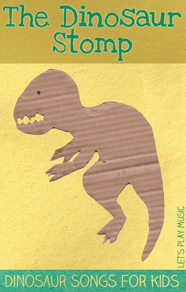 A Dinosaur Song for Kids- with Dance moves!