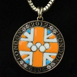 London 2012 Olympic Vintage Necklace Souvenir Circle Charm