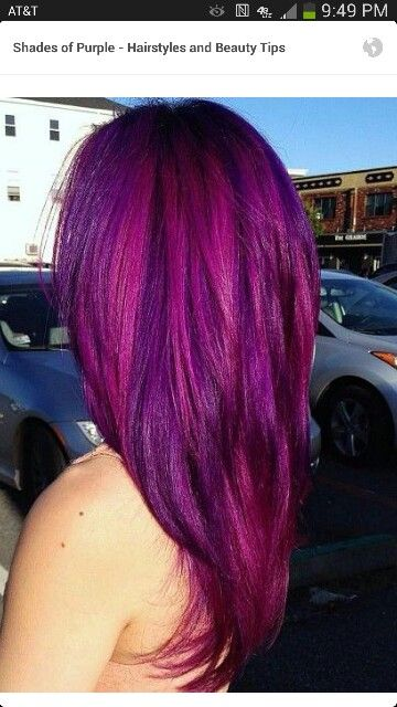 Purple hair!