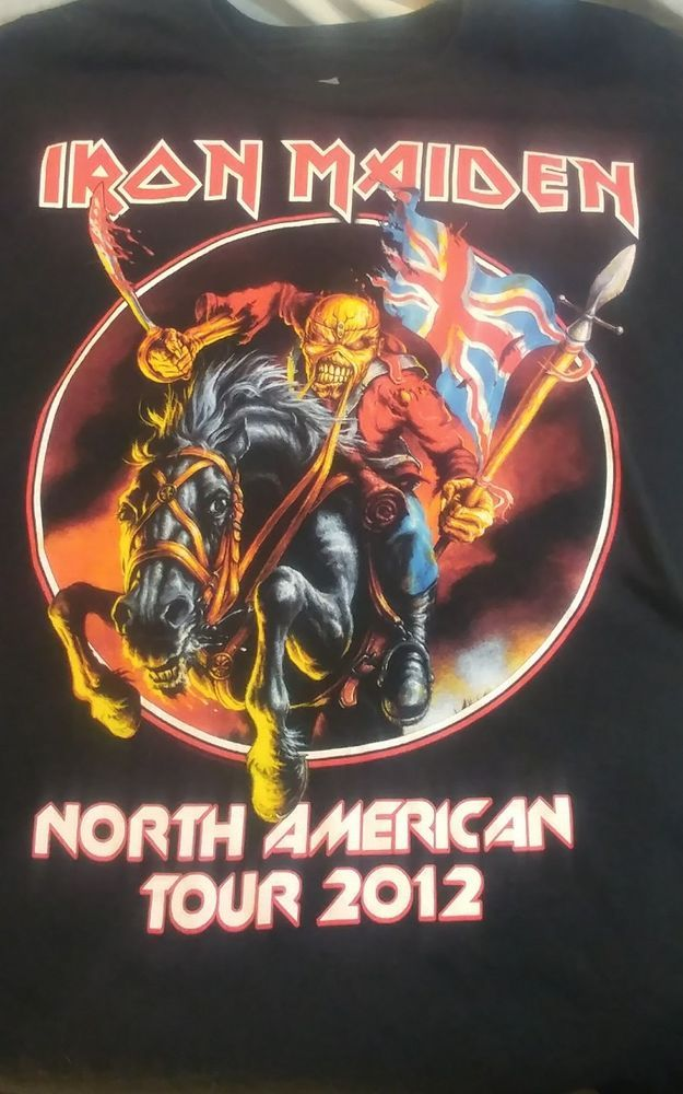 Iron Maiden T-Shirt Tee Maiden England North American Tour Black 2012 Size Large #Hanes #GraphicTee