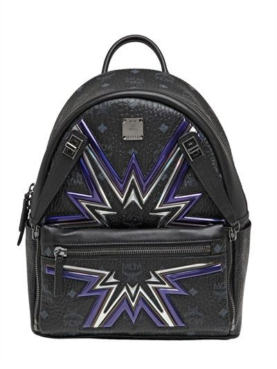 MCM Small Dual Stark Cyber Flash Backpack, Black. #mcm #bags #leather #backpacks #lace #