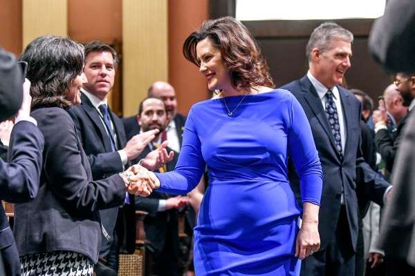 Gretchen Whitmer Fires Back About State Of The State Dress Criticism In 2020 Women Leaders Michigan Gov Governor