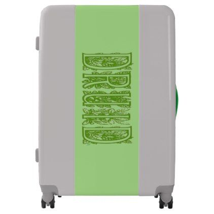Druid UGOBAGS large luggage suitcase - calligraphy gifts custom personalize diy create your own