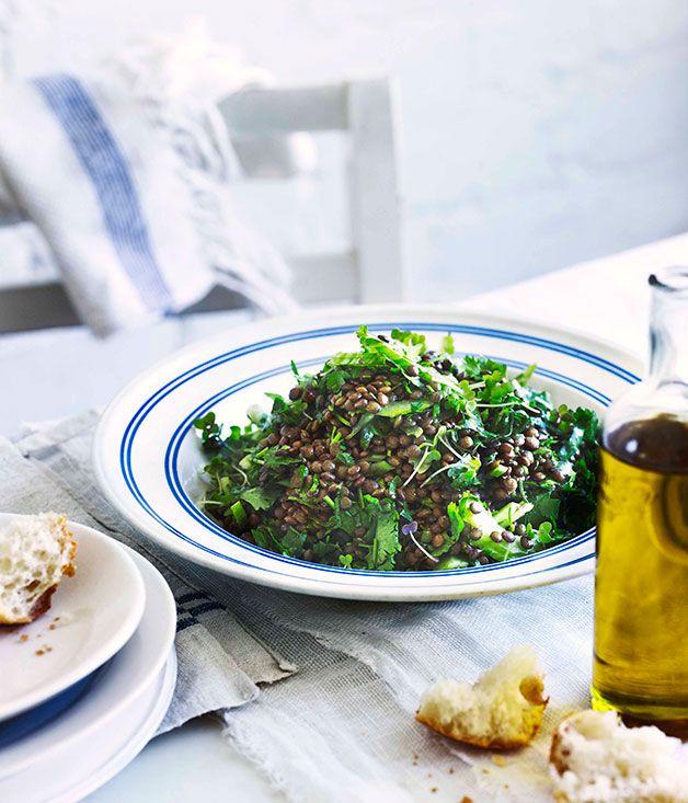 lentil + coriander salad | gourmet traveller