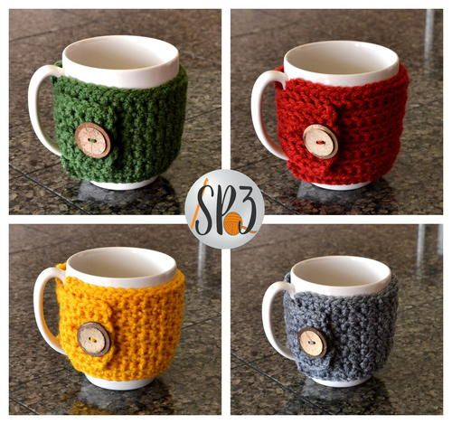 Cozy Coffee Sweater ~ UPDATED APRIL 10, 2017 ~ BEGINNER level ~ finished size fits most 8 oz. coffee/tea mugs ~ FREE - CROCHET