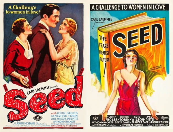 Pre-code era movie posters are always stunningly casual pieces of art.
