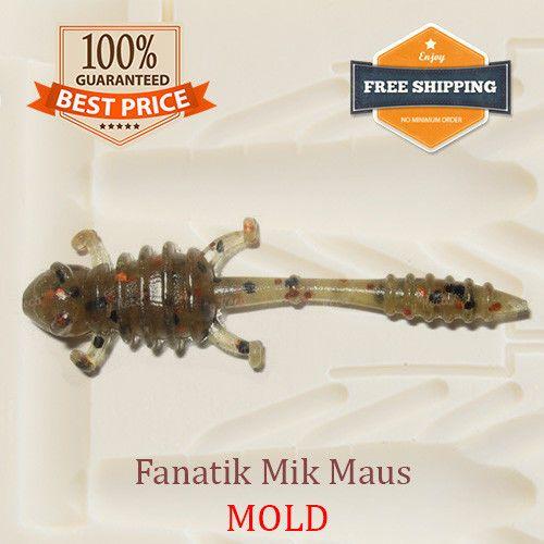 Details about Fanatik Mik Mouse Bait Mold Fishing Soft