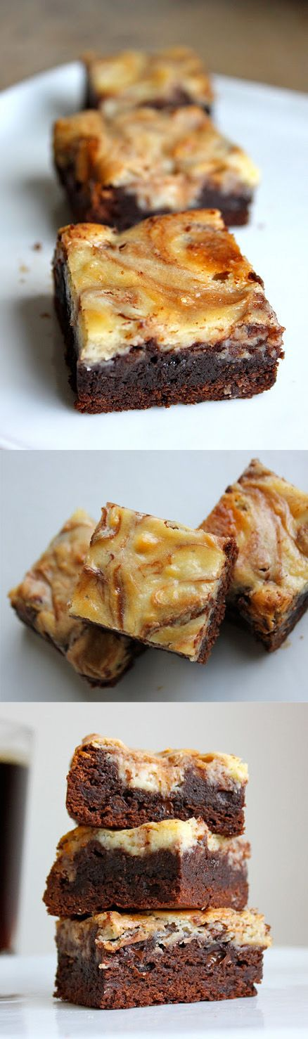 Brownie de chocolate y cheesecake