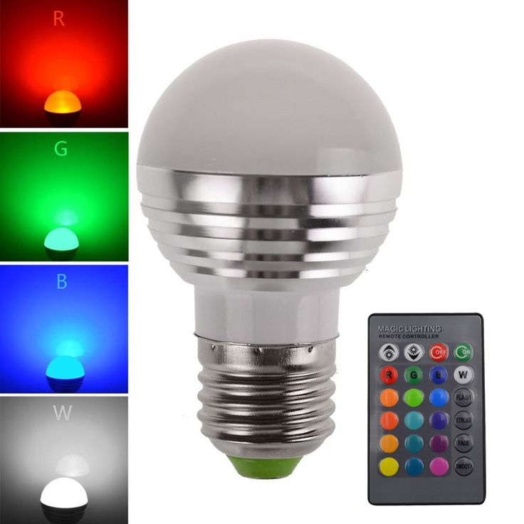 16 Colors Changeable RGB LED Spotlight Bulb 85V- 265V With IR Remote Controller Holiday Lamp Decorative Night light Newest #Affiliate