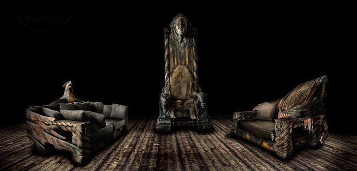 Puustikki Viikinki nojatuolit ja valtaistuin