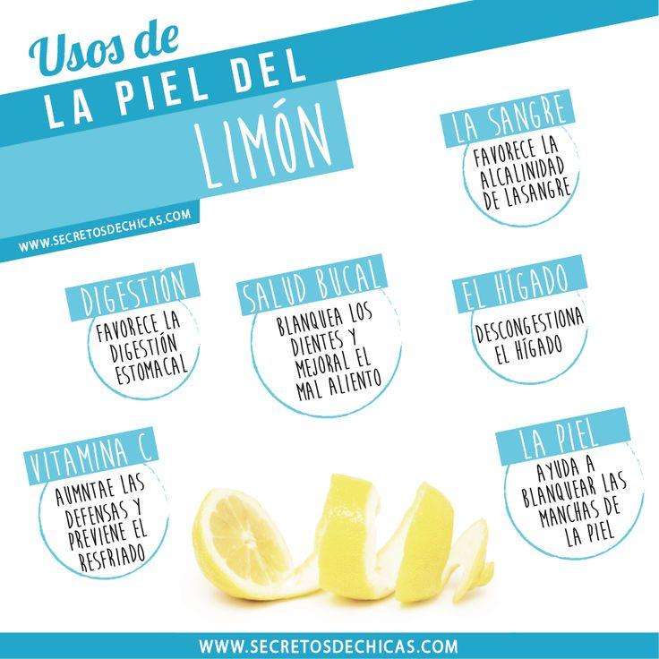 Usos de la piel del limón