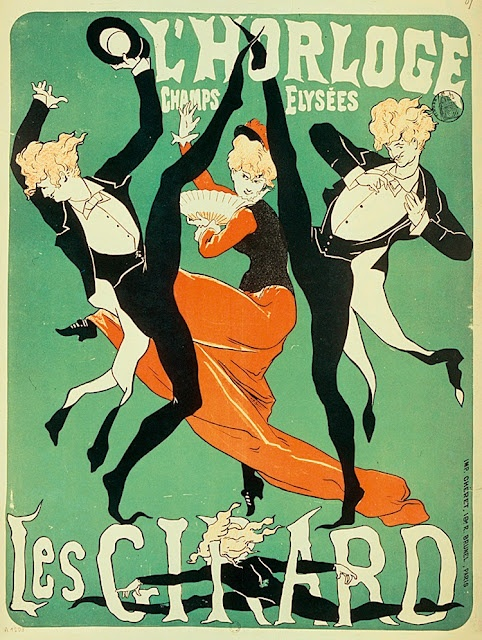 Jules Cheret, Les Girard poster for the Folies-Bergere, 1877