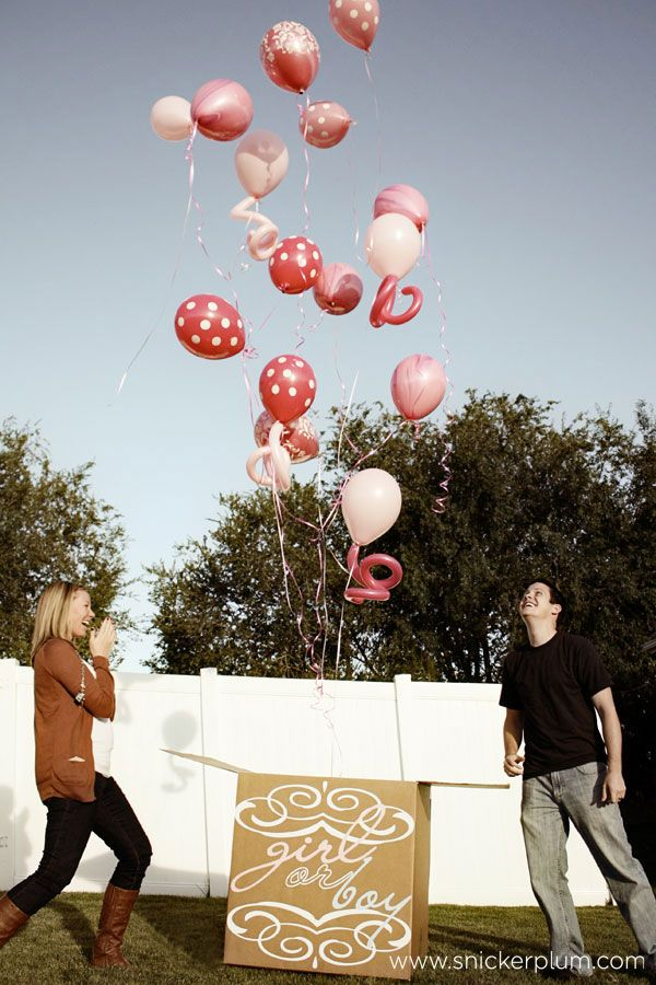 Gender Reveal Party - Definitely love this way to reveal best... props to this couple, though, they found out at that moment, too!  I wouldn't wait!