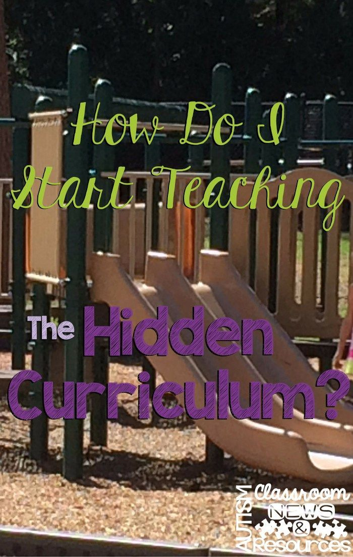 Many of the social difficulties of individuals with autism and Aspergers stem from not understanding the hidden curriculum.  Here are some ideas to start teaching the hidden curriculum in the classroom.
