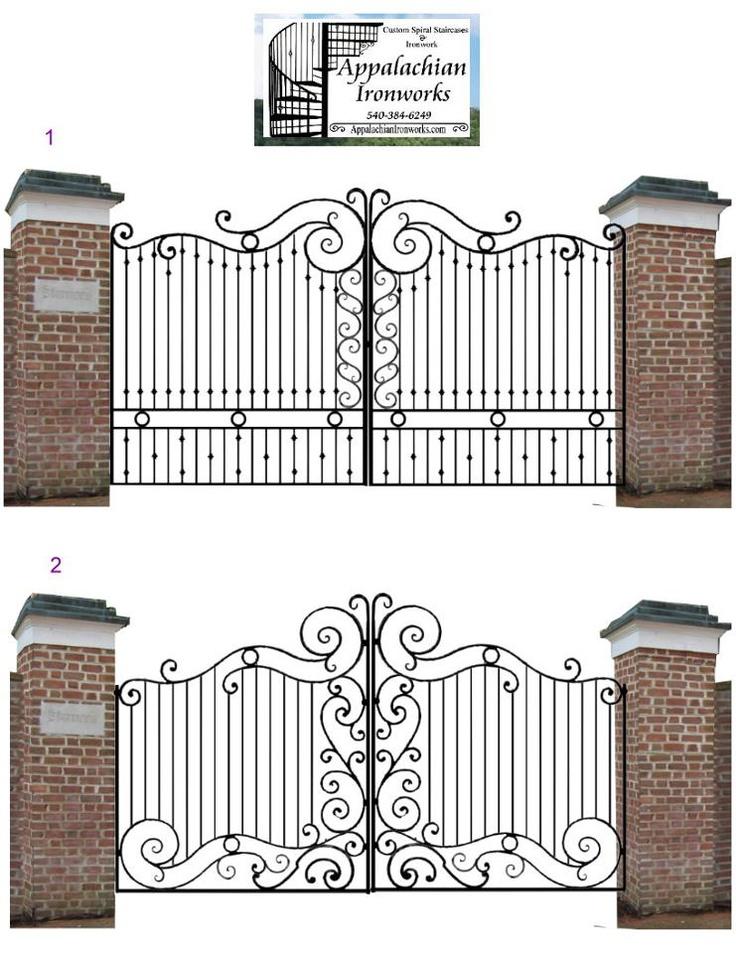 Large Estate Entrance Gate Digital Design by Appalachian Ironworks .com