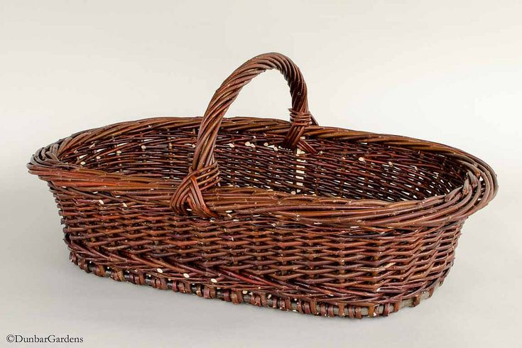 """potluck"" willow basket made by Katherine Lewis"