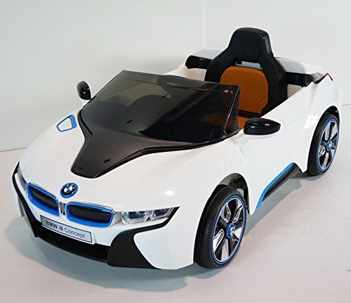 New 2015 BMW I8 Je 12v Kids Ride on Power Wheels Battery Toy Car - White