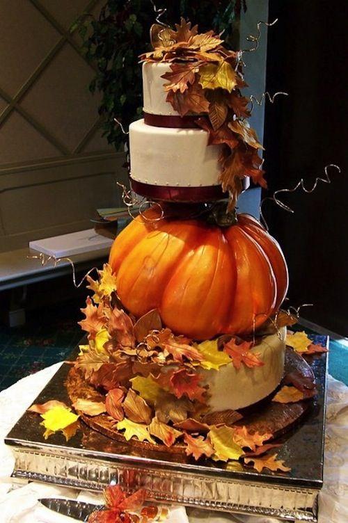 #Fall #wedding cake ideas