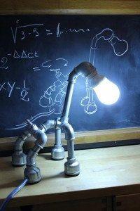 Dog Pipe Lamp