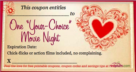 valentine's day iou coupons
