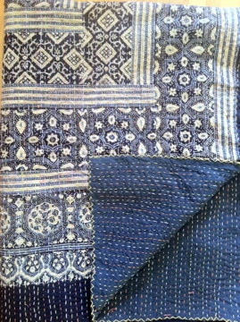 Kantha Blockprinted Quilt