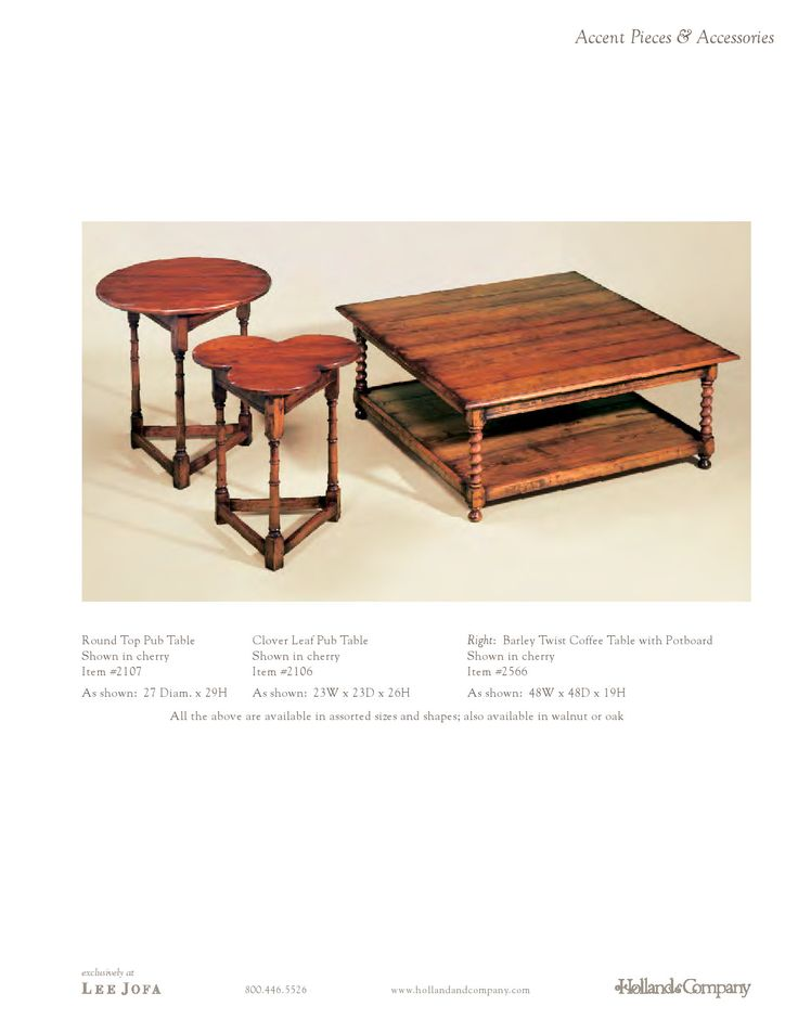 Holland & Company - Coffee Tables - Barley Twist Coffee Table