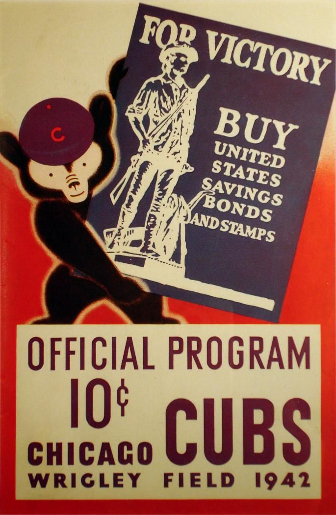 Cubs 1942 Scorecard