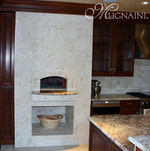 Home pizza oven - residential oven – interior installation in Houma, Louisiana.