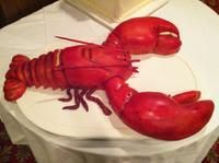 lobster Grooms cake we made at  sparks steak house nyc. www.SweetSweetSues.com