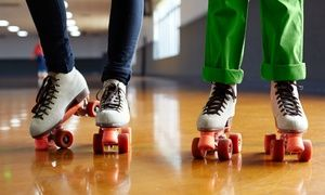 Groupon - Roller Skating for Two or Four with Pizza at Dreamland Skate Center…