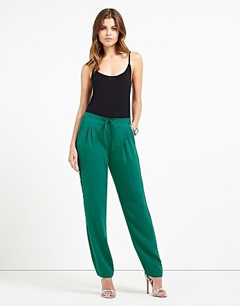 Womens sea green trousers from Lipsy - £46 at ClothingByColour.com