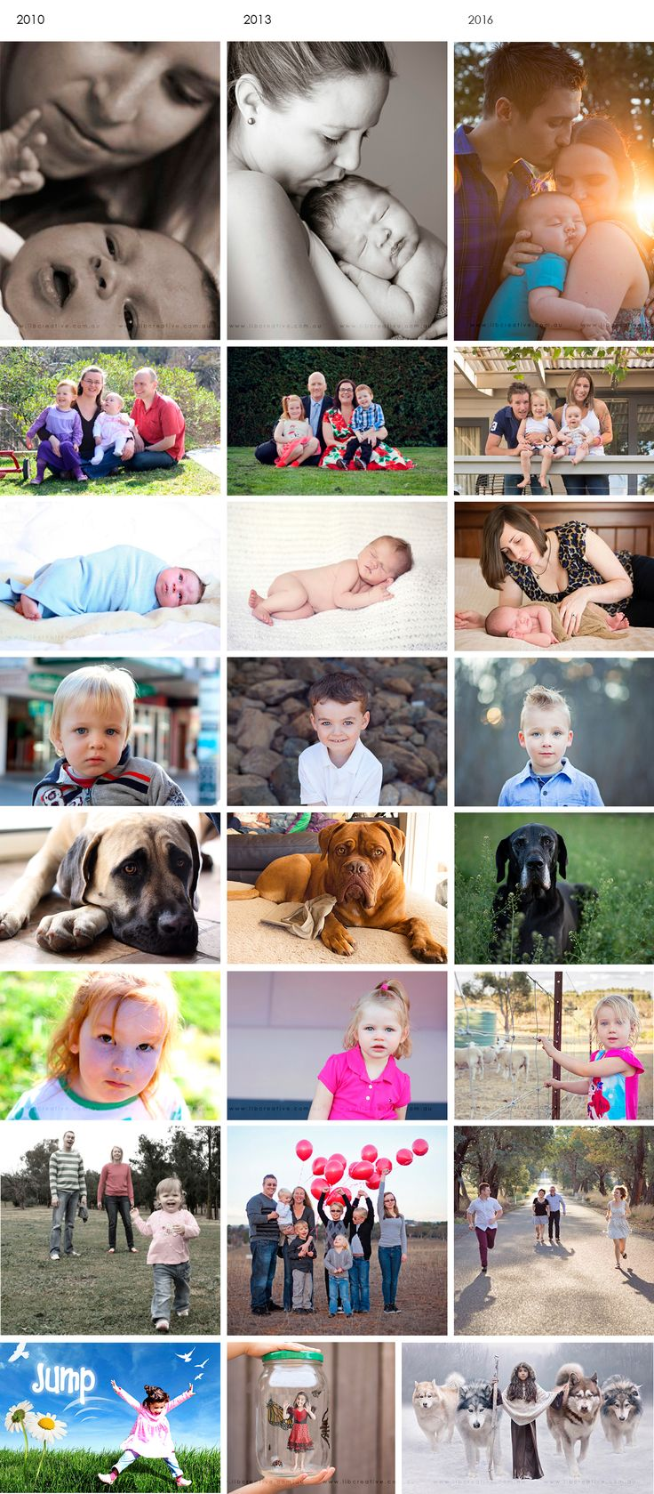 Photography development over 6 years - Then & Now - Lib Creative - family and portrait photography canberra queanbeyan