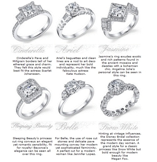 Disney Princess Rings these are pretty. I'm pretty fond of the Snow White one ;)