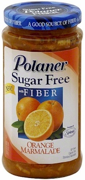 Polaner Sugar Free Orange Marmalade With Fiber - low carb - sugar free - only 2 carbs per tablespoon - great with pork and tons of recipes. - They have many different flavors too!