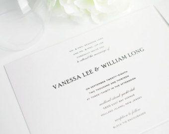 SAMPLE Simple Elegance Invitation by 424DesignsJax on Etsy
