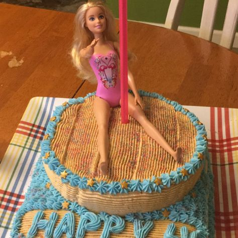 Barbie Stripper cake for 40th birthday party