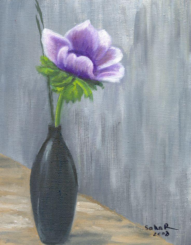 Oil painting... Dahlia.