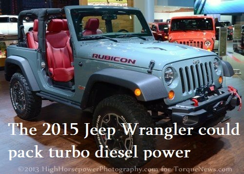Jeep lovers in the US have long been calling for a diesel powered Trail Rated SUV and the refreshed 2015 Jeep Wrangler could be the next vehicle from the popular brand to pack diesel power – provided that the new EcoDiesel in the 2014 Jeep Grand Cherokee is well received by American buyers.