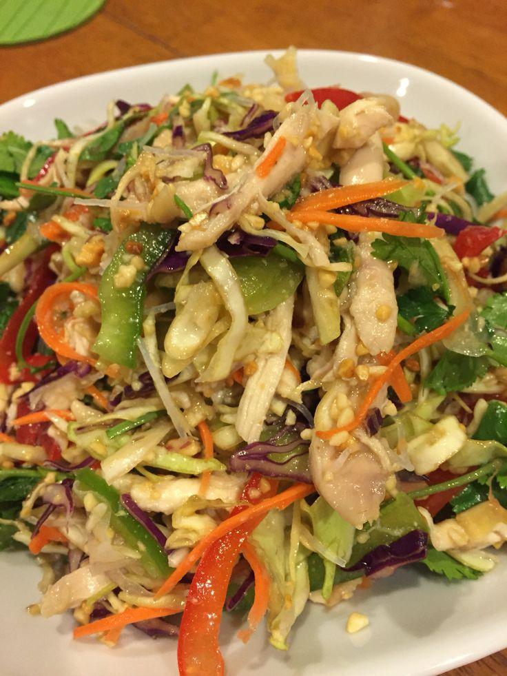 Cambodian Chicken Salad (Yum Sach Mon)