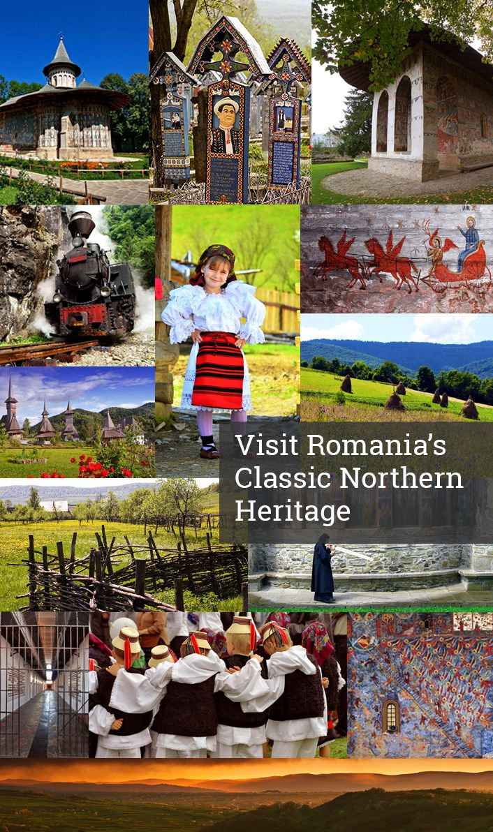 Explore the north of Romania in 6 days and enjoy two of the most beautiful and well- preserved historical regions: Maramures and Bukovina. This is the best opportunity to discover Romanian folklore together with the popular painted monasteries, as well as other monuments protected by UNESCO. http://www.rolandia.eu/offer/visit-romanias-classic-northern-heritage/?utm_campaign=self-drive&utm_medium=refferal&utm_source=pinterest&utm_content=heritage